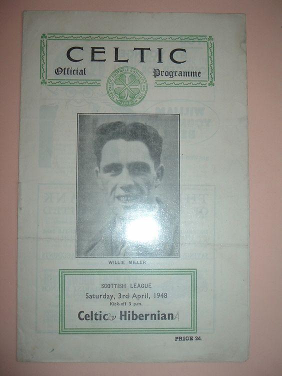 Celtic v Hibernian April 1948 Championship season