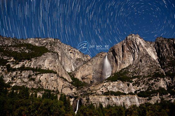 Click on to see pic.Yosemite Falls at Night | Yosemite National Park | © Jay Moore Photography