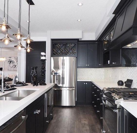 Flooring with dark cabinets