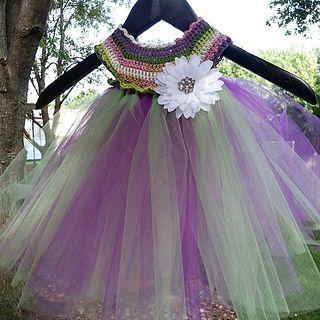 Free Crochet Tulle Dress Pattern : Empire Waist Crochet Tutu Dress pattern by Patricia ...
