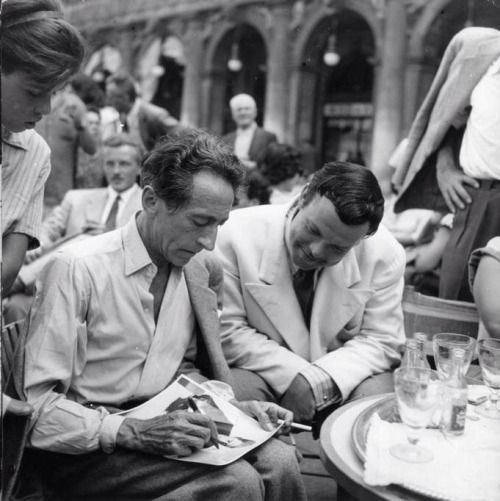 Cocteau and Orson Welles 1948 Venice: