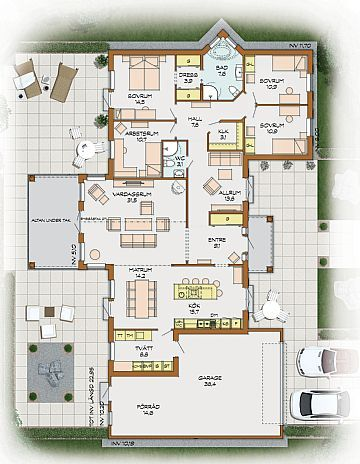Söderhill plan 1 Dream Home Plan Pinterest Bungalow, House - küche selber planen