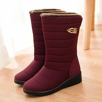 Negro EU36-42 Casuales Trabajo Trekking Aire Libre TIESTRA Botas de Nieve para Mujer Zapatos de Invierno Forro de Piel C/álidas Calientes y Impermeables Antideslizante para Senderismo