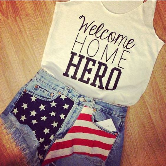 Welcome Home Hero love that shirt!!! Would be a perfect sign