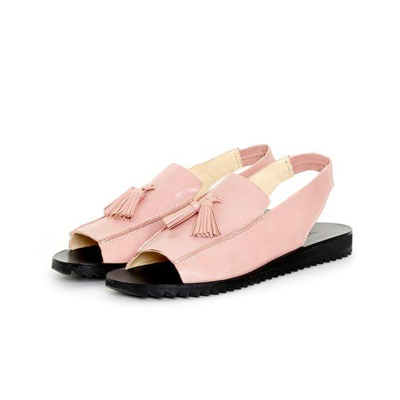 Loafer Sandal Rubber Dirty Pink by Terhi Pölkki