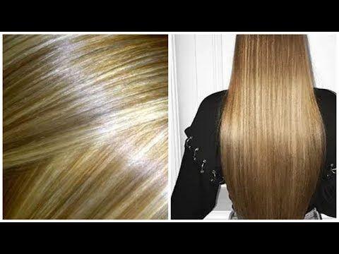 لون شعرك اشقر باهت استعمليها وستحصلين على لون اشقر رائع جدا بدون صبغة وبمكونات بسيطة Youtube