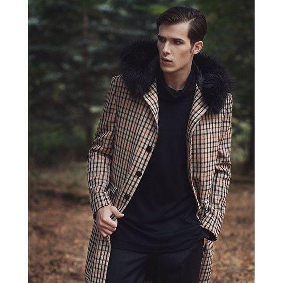 Nice check winter coat by @darkohmenswear || MNSWR style inspiration || www.MNSWR.com