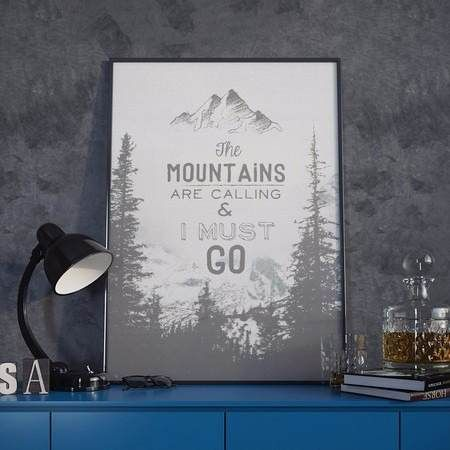 poster mountains are calling