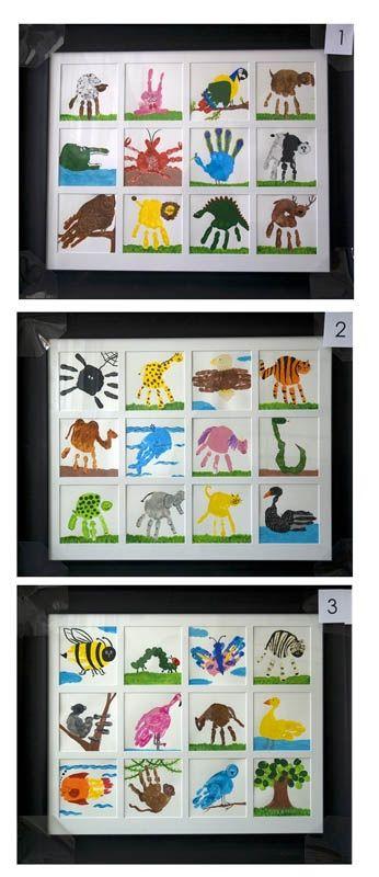 Good extension activity if we have paints out? Kindergarten Art Project- hand print art.