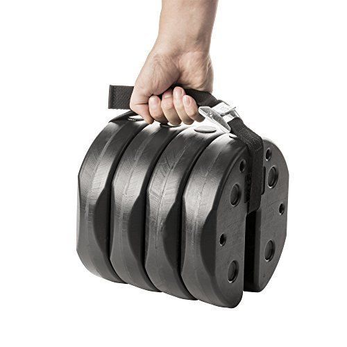Canopy Interlocking Weights 40lb 4 X 10lb Stackable Plates Lock