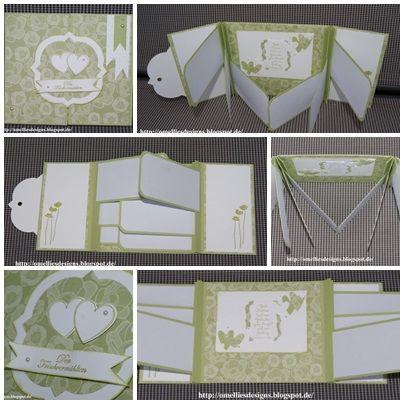 Stampin UP , Flagcard, Hearts, Wedding card