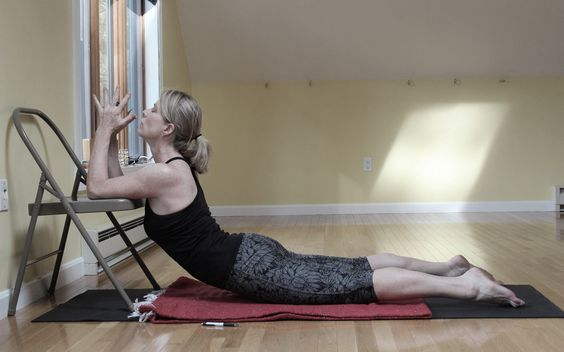 Yoga on pinterest for Chaise yoga iyengar