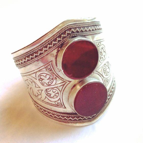 Carnelian & Silver Vintage Cuff. $400.  www.meredithjackson.com