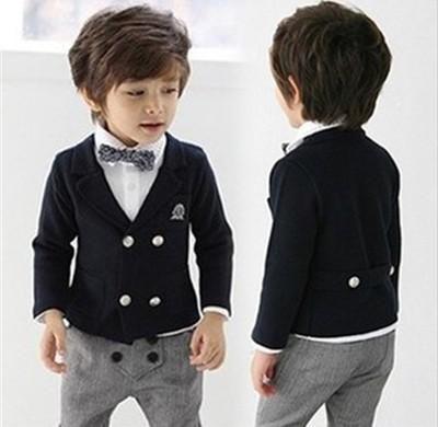 Seasons Korean Children Coat Children Dress Suit Performance ...