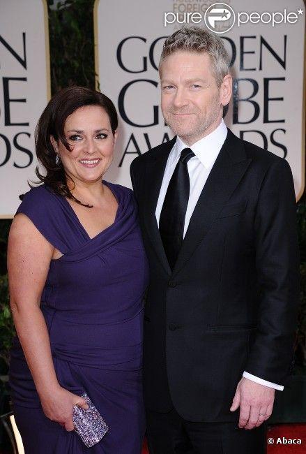 Kenneth Branagh et Lindsay Brunnock aux Golden Globes, le 15 janvier 2012 à Los Angeles.