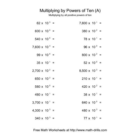Multiplying And Dividing By Powers Of 10 Worksheet Free Worksheets – Multiplying by Powers of 10 Worksheet