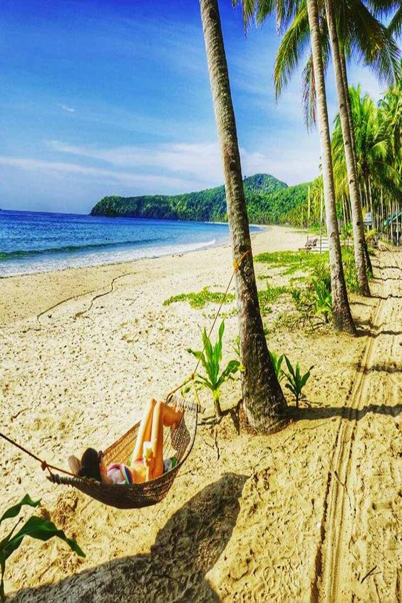 Nacpan Beach, Islas Palawan, Filipinas