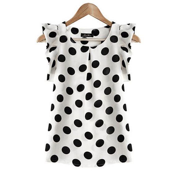 Summer Women Chiffon Short Sleeve Top Blouse