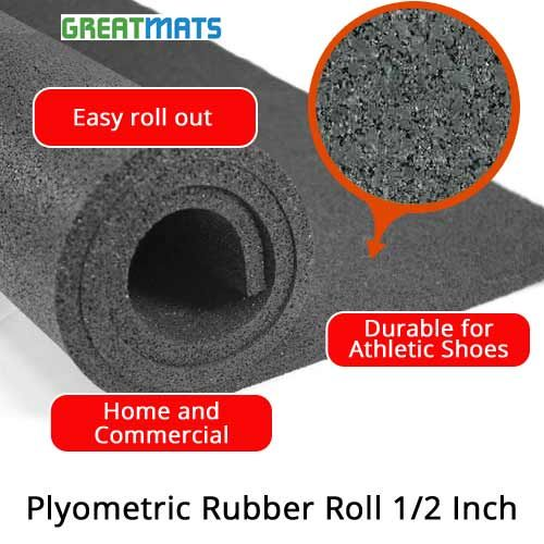 Plyometric Rubber Roll 1 2 Inch In 2020 Plyometrics Rubber Flooring Rubber Rolls