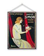 Cartello metallo vintage CREME SIMON