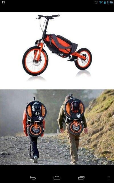Bergmönch foldable bike