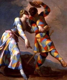 129_2559-Arlequim e sua Dama - Giovanni Domenico Ferreti: