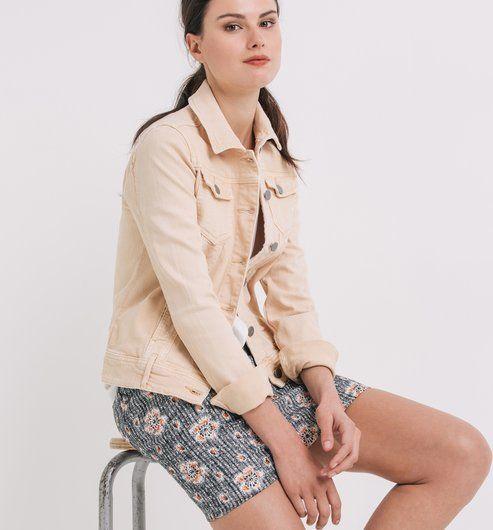 Blouson en jean couleur Femme