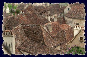 Les toits de Saint Cirq Lapopie Lot 46