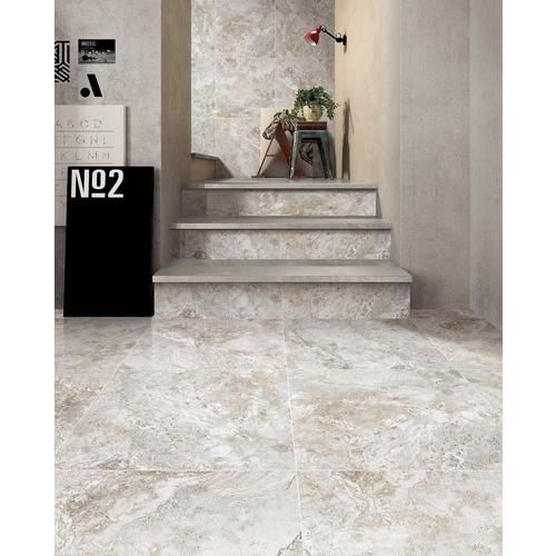 Tarsus Gray Porcelain Tile Floor