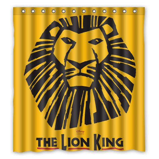 The Lion King Musical Broadway Shower Curtain Lion King Musical