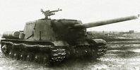 Советская тяжелая самоходно-артиллерийская установка (САУ)  ИСУ-122. История создания, технические характеристики, боевое применение, описание конструкции.
