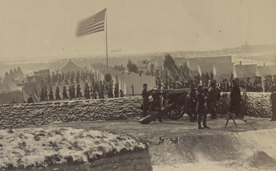 FIRST REGIMENT CONNECTICUT HEAVY ARTILLERY, 1862 At Fort Richardson in Arlington, Virginia. The regiment returned to the defense of Washington and later was involved in fighting near Fort Fisher, N.C., as well as the sieges of Petersburg and...