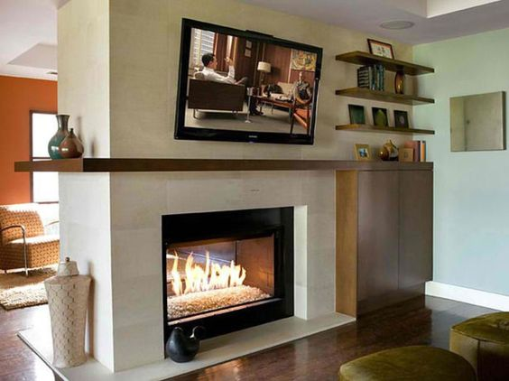 Two Sided Electric Fireplace With Shelving | Decoholic-20-Amazing