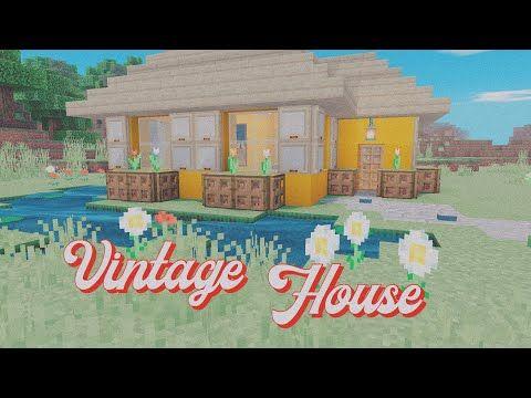 A E S T H E T I C Minecraft Vintage House Tutorial Youtube In 2020 Vintage House Vintage Minecraft