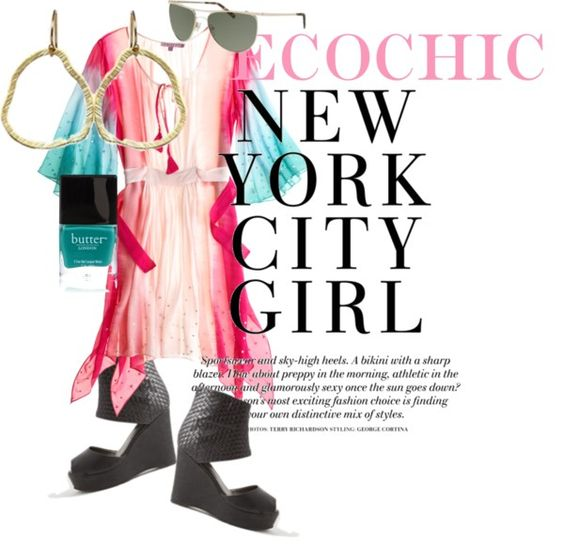 """EcoChic NYC Girl"" by jpselects on Polyvore"