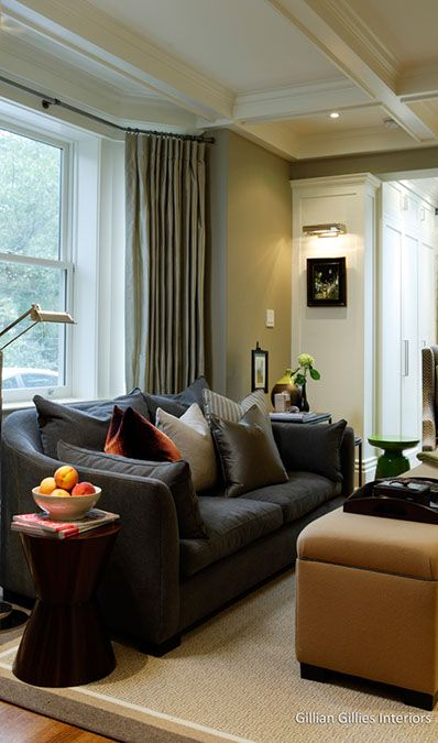 Gillian Gillies Interiors - Toronto - Canada - Interiors - Transitional - Family Room - Great Room - Riverdale Top to Bottom Renovation.