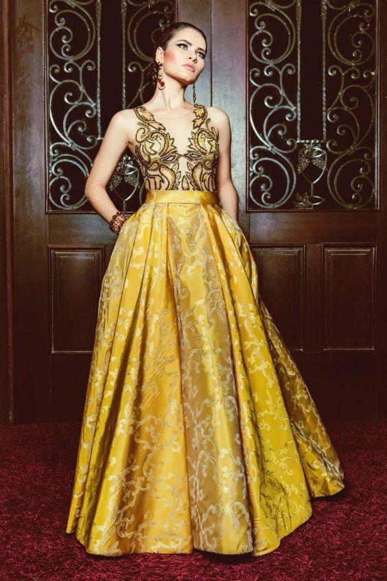vestido de festa longo godê: