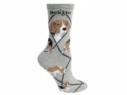 Hunderassen-Socken für TierfreundeHunde Rasse Socken: Beagle -grau-, L=41-45