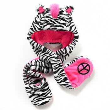 SO Zebra Faux-Fur Hat - Girls $18
