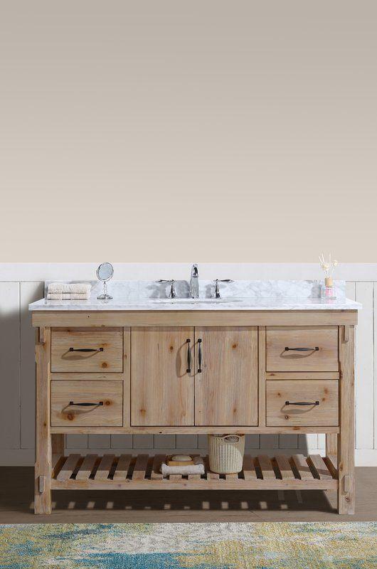 Loftin 55 Single Bathroom Vanity Set Bathroom Vanity Single Bathroom Vanity Farmhouse Style Bathroom Vanity