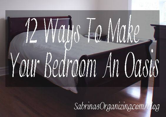 Want a relaxing bedroom? Check out these 12 ways to make your bedroom an oasis. Do just a few and watch how your feelings change about your bedroom.