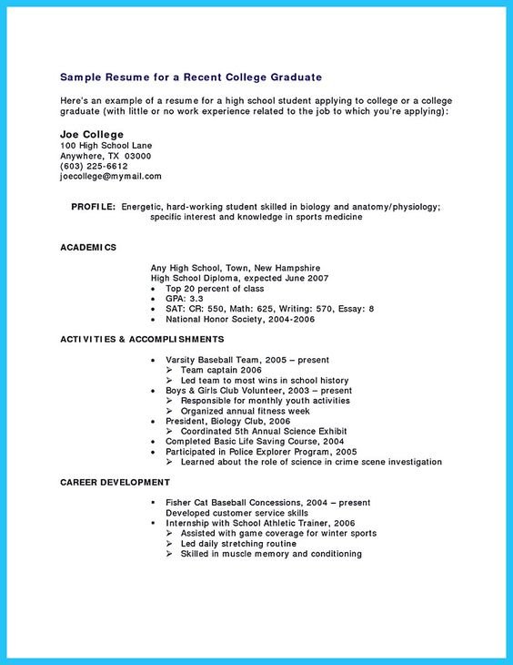 cool Best Current College Student Resume with No Experience - college student resume templates