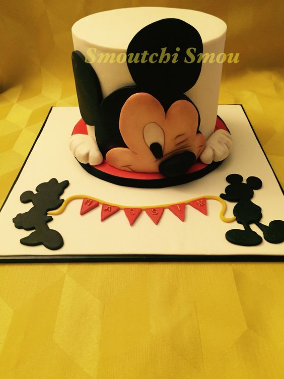 Mickey mouse cake                                                                                                                                                      More