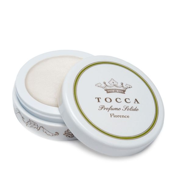 Tocca Florence Solid Perfume.  Tocca- Florence grapefruit leaf, bergamot, pear and apple; middle notes are violet leaf, iris, gardenia, jasmine and tuberose; base notes are musk and white woods.