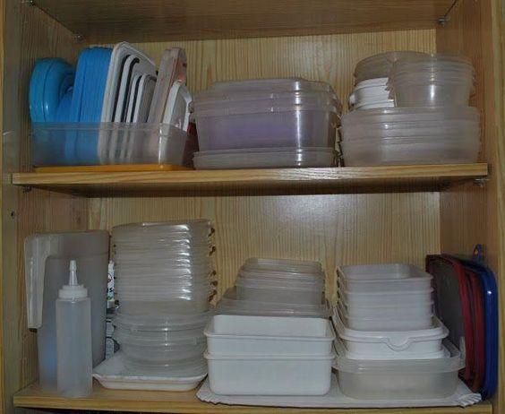 C mo organizar los tupper y recipientes que tienes en los for Recipientes cocina