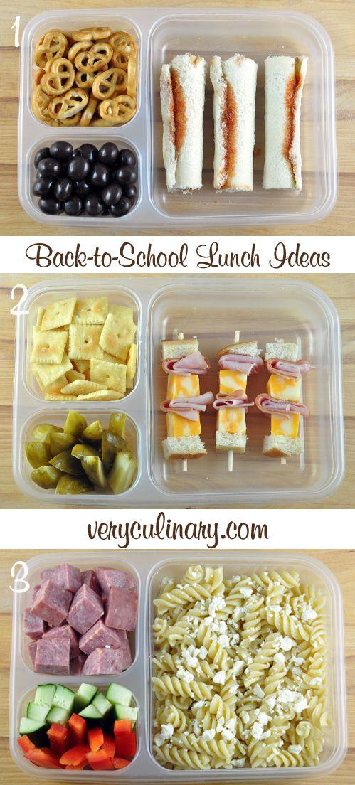 Ideas para las loncheras de los niños. #RegresoAClases #almuerzo #ninos