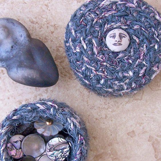 Lunar Altar Box silk tapestry art Sleeping Moon #wedding www.BlueRainbowDesign.com