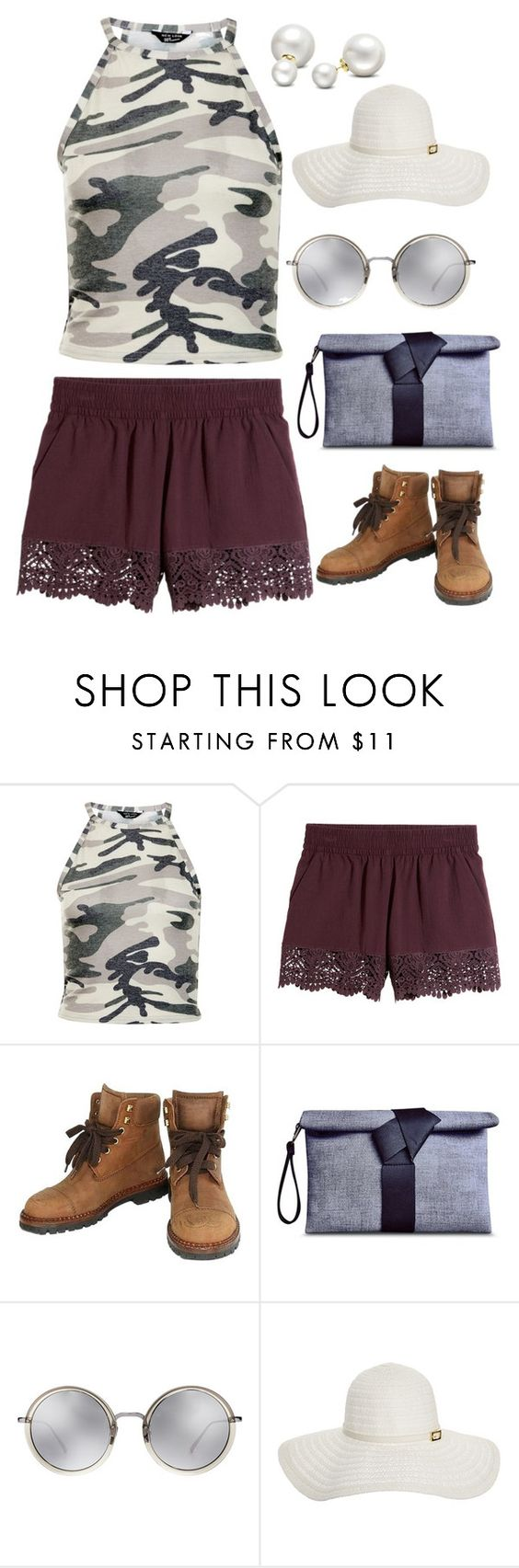 """""""Untitled #4123"""" by kaitoven on Polyvore featuring New Look, Chanel, Linda Farrow, Melissa Odabash and Allurez"""