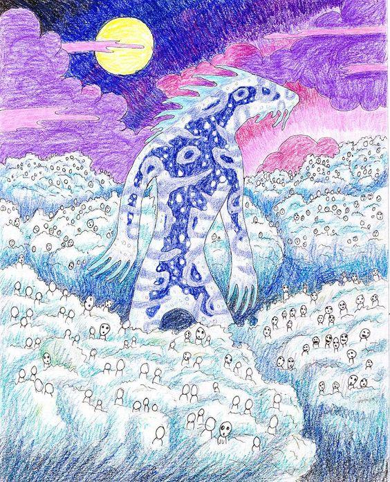 もののけ姫のデイダラボッチの絵