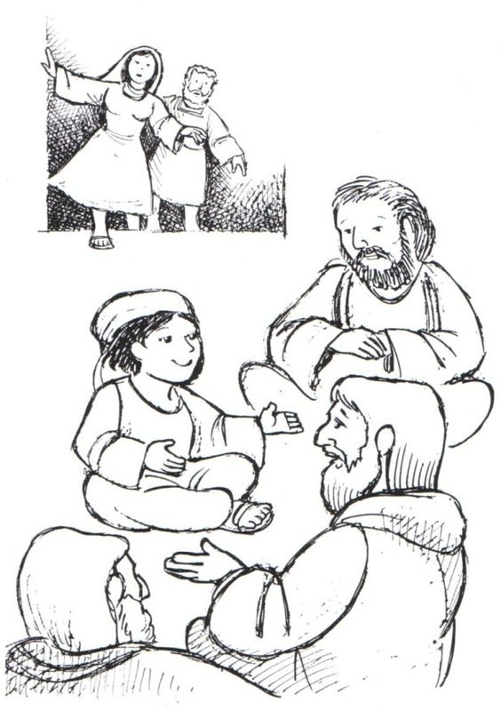 coloring pages of jesus teaching - photo#15